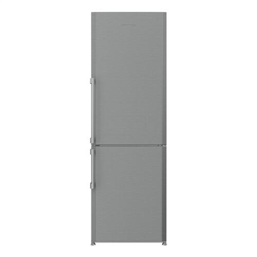 24in 13 cuft bottom freezer fridge with internal auto ice maker, stainless steel