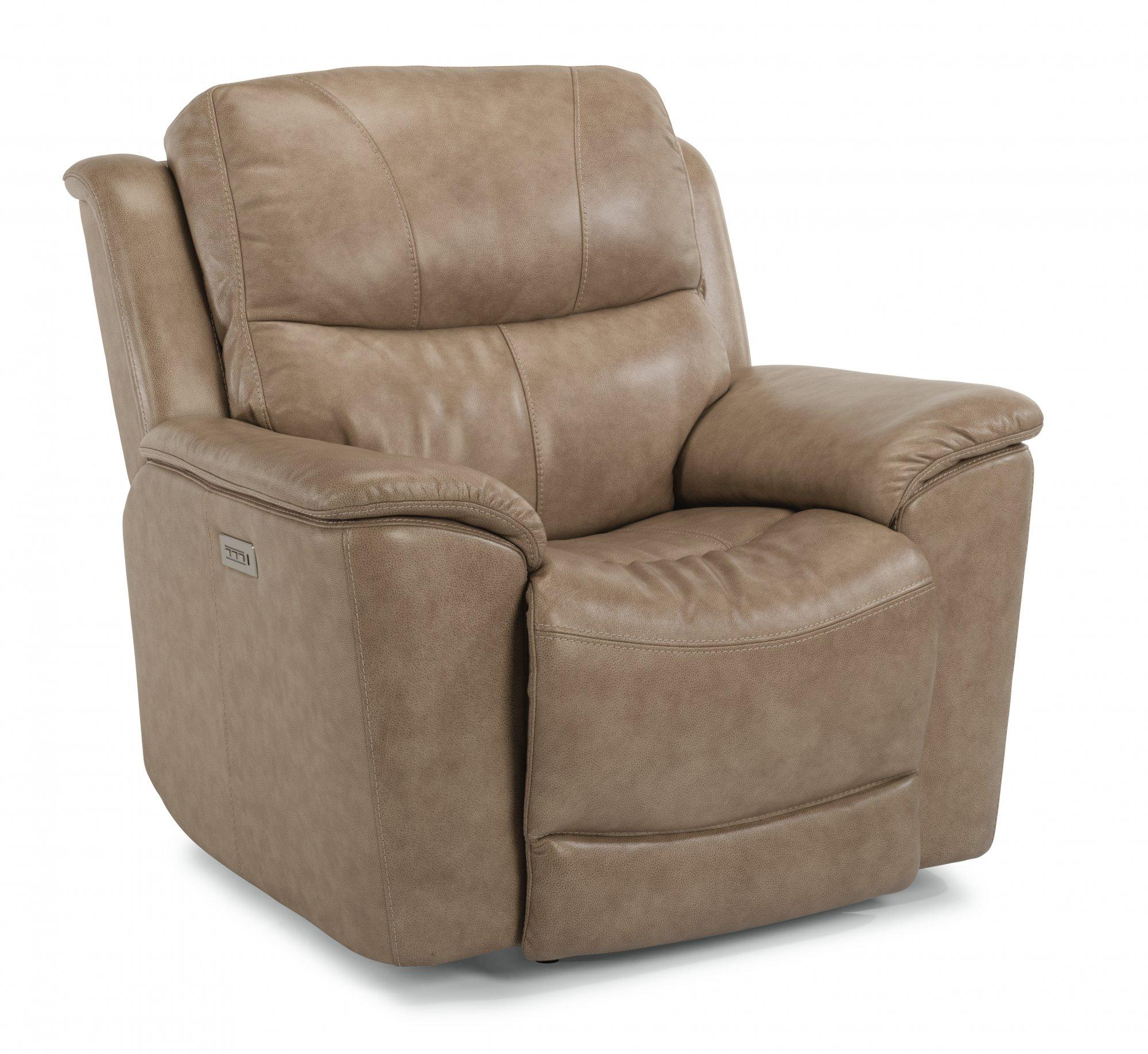 FlexsteelCade Power Recliner With Power Headrest & Lumbar