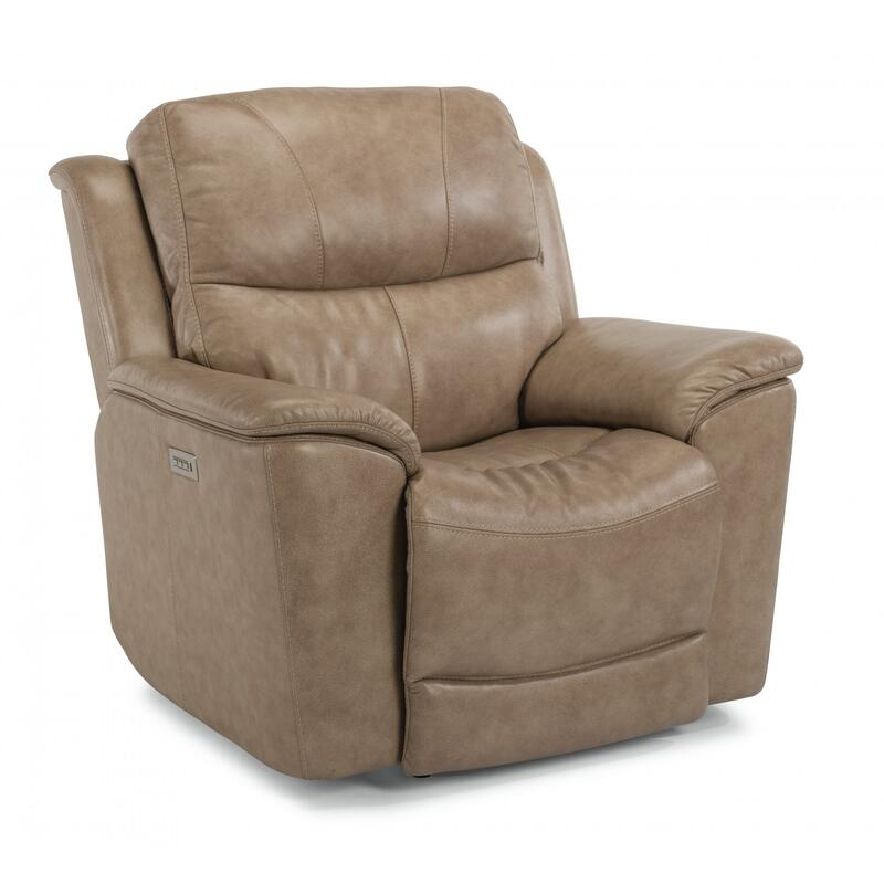 Cade Power Recliner with Power Headrest & Lumbar