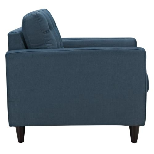 Empress Armchair Upholstered Fabric Set of 2 in Azure