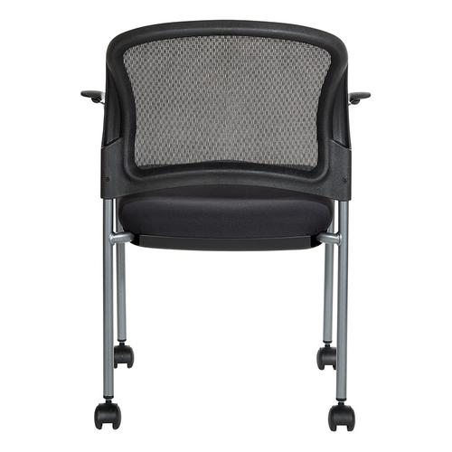 Office Star - Titanium Finish Rolling Visitors Chair