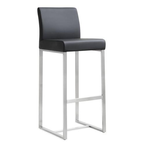 Tov Furniture - Denmark Black Stainless Steel Barstool (Set of 2)