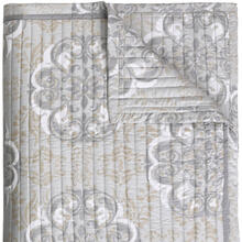 Retired Elan Quilt & Shams, PLATINUM, STAND