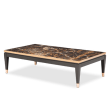 Durango Cocktail Table w/Marble and Rose Gold Trim (2 pc)