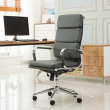 Modica Chromel Contemporary High Back Office Chair, Gray
