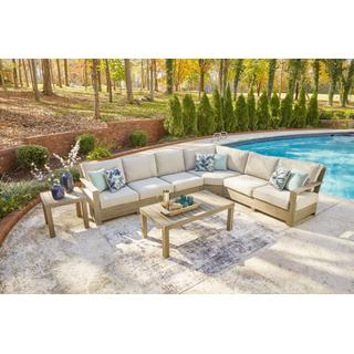 See Details - 4-piece Outdoor Sectional With Coffee Table and End Table