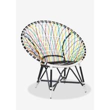 (LS) St Lucia outdoor round chair - multicolor(39.75x30.75x40.5)