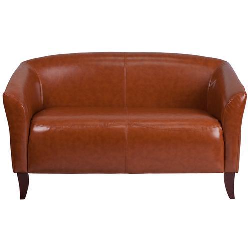 HERCULES Imperial Series Cognac LeatherSoft Loveseat