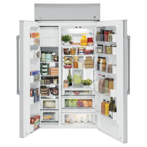 "Ding & Dent GE Cafe Series 42"" Built-In Side-by-Side Refrigerator"