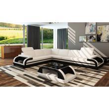 Divani Casa 5132C Modern White & Black Bonded Leather Sectional Sofa