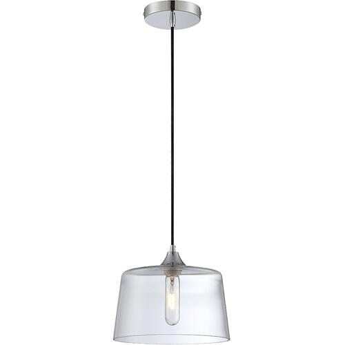 Pendant, Chrome/clear Gls, Vintage Bulb 40w(lu-40v/t32/128)