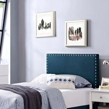 View Product - Phoebe Twin Upholstered Fabric Headboard in Azure