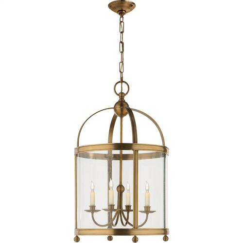 Visual Comfort CHC3423AB E. F. Chapman Edwardian 4 Light 18 inch Antique-Burnished Brass Foyer Pendant Ceiling Light