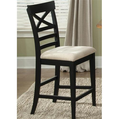 Liberty Furniture Industries - X Back Counter Chair - Black