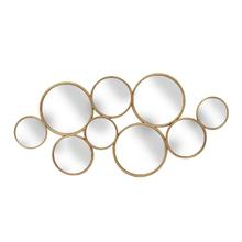 """See Details - Metal 47.5"""" Mirror, Gold, Wb"""