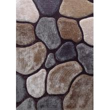 Rock Shag Area Rug by Rug Factory Plus - 5' x 7' / Earth