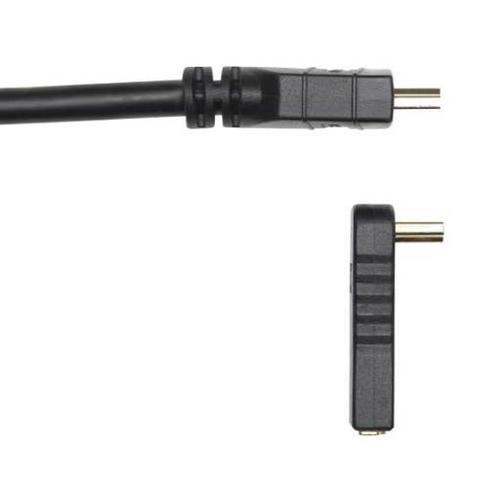Black 90° HDMI Adapter Easily connect HDMI cables in tight spaces