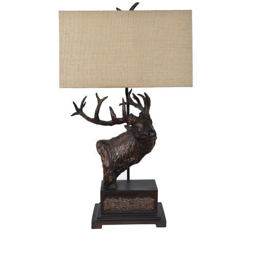 Elk Bust Table Lamp