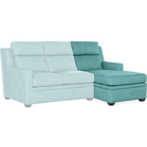 Bradington Young Sectionals 201 Raymond Stationary Sectional with Two-Piece Back