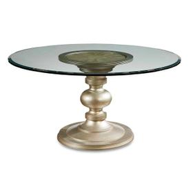 """Morrissey Wallen Round Dining Table with 54"""" Glass Top"""