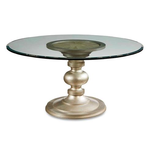 "Morrissey Wallen Round Dining Table with 54"" Glass Top"
