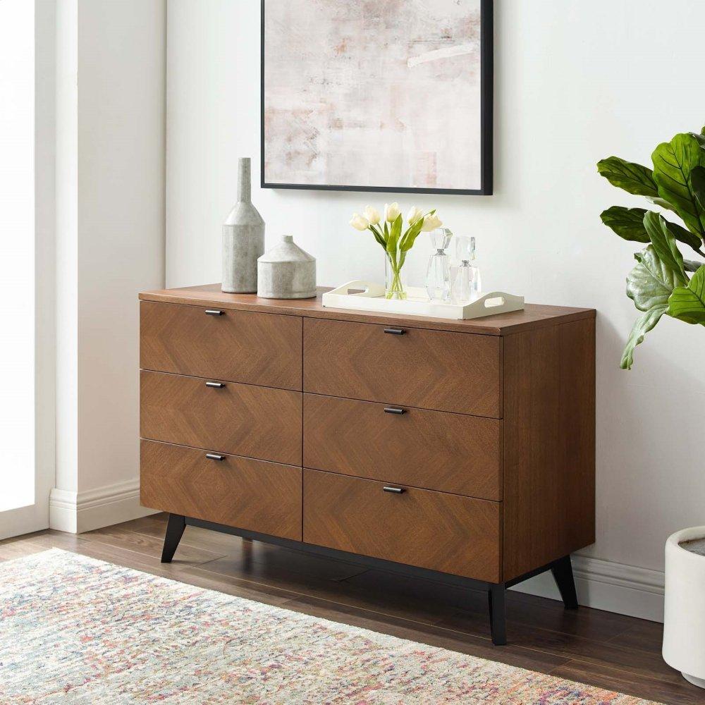Kali Wood Dresser in Walnut