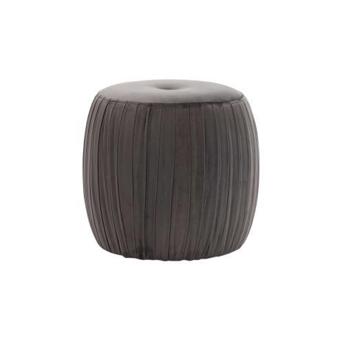 Tov Furniture - Sommer Grey Velvet Ottoman