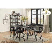 "24"" Counter-height Stool Black"