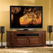 PR32 Espresso Finish Wood A/V Cabinet with Interchangeable Door Panels for most TVs up to 62 inches from Bell'O International Corp.