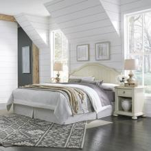 Chambre King Headboard and Two Nightstands