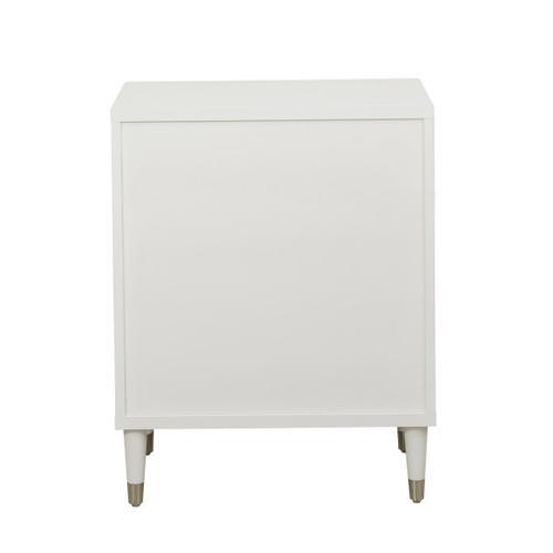 Modern White Chairside Chest