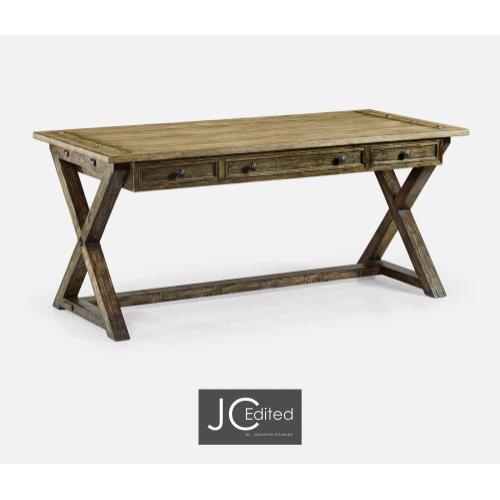 Light & Dark Driftwood Desk