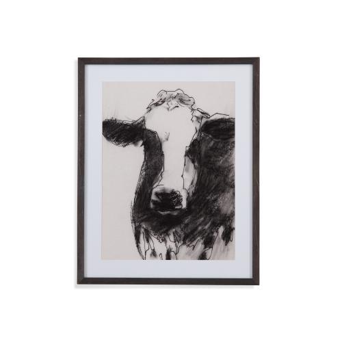 Bassett Mirror Company - Cow Portrait Sketch II