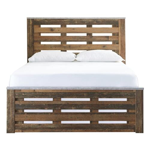 Queen/full Panel Headboard With Mirrored Dresser, Chest and 2 Nightstands