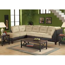 San Marino Chocolate / Padded Walnut Left Side Facing Sofa