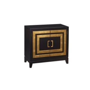 Modern Door Chest Black
