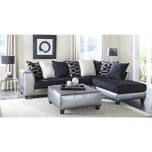 Metro Silver/Black Sectional RF Chaise