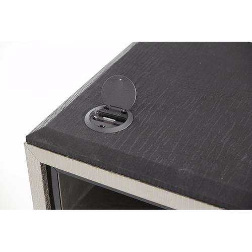 Titanium Media Cabinet