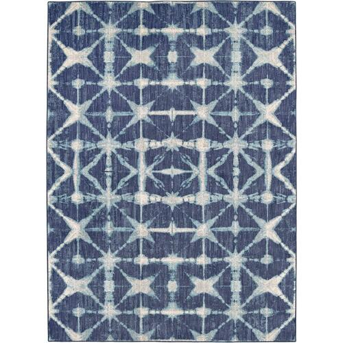 "Expressions Triangle Accordion Indigo 2' 4""x7' 10"" Runner"
