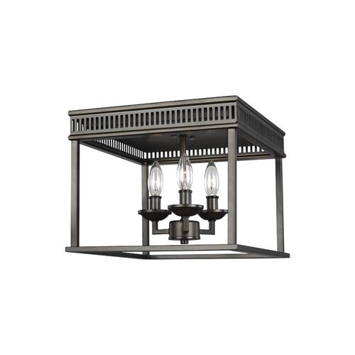 Woodruff Flush Mount Antique Bronze