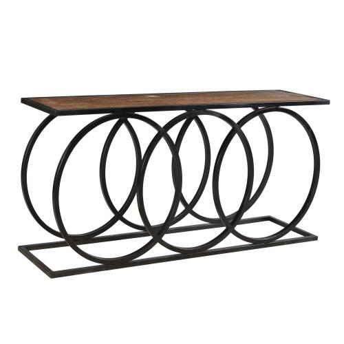 Bengal Manor 3 Metal Circles Console Table