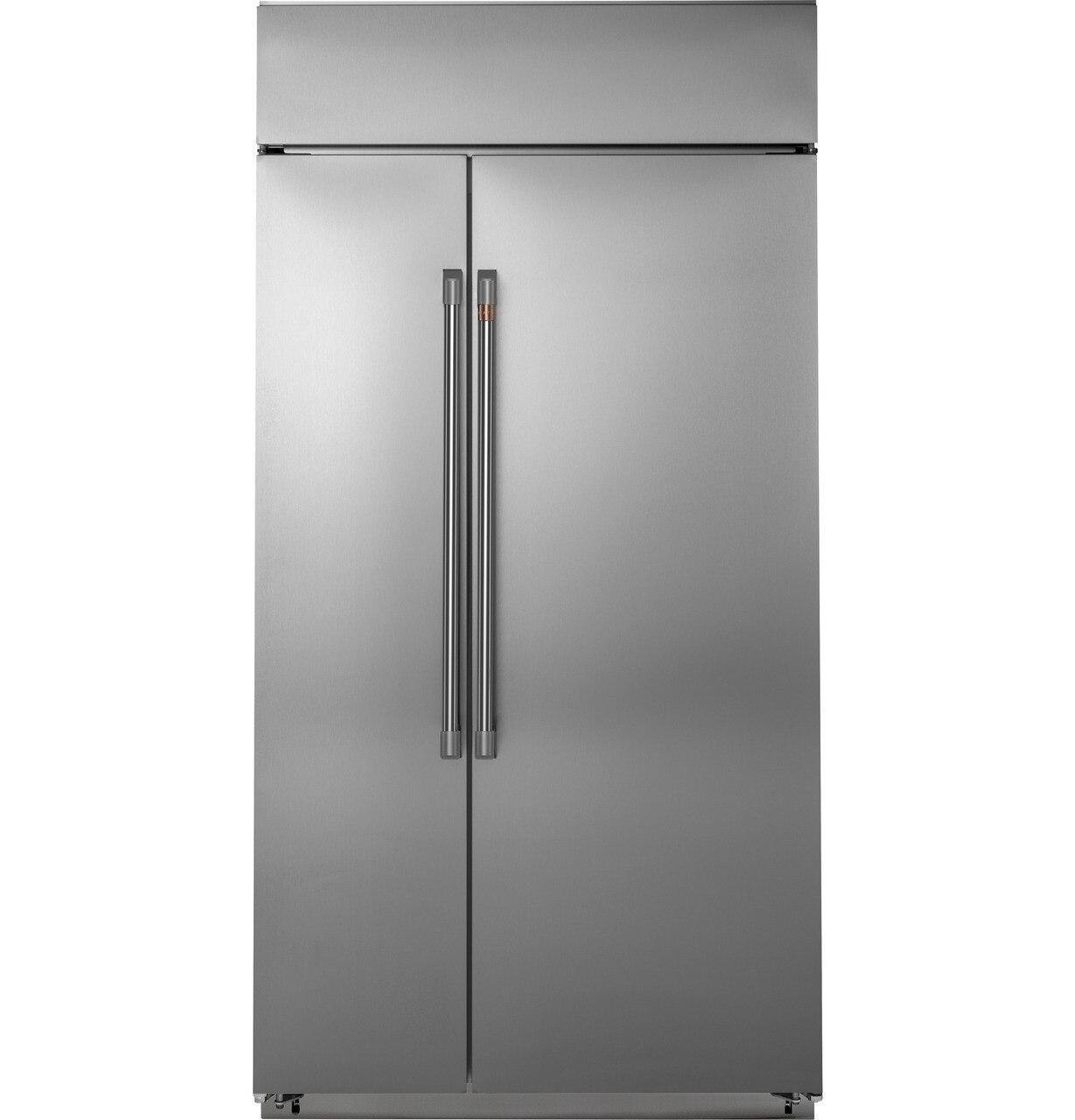 "Cafe Appliances42"" Smart Built-In Side-By-Side Refrigerator"