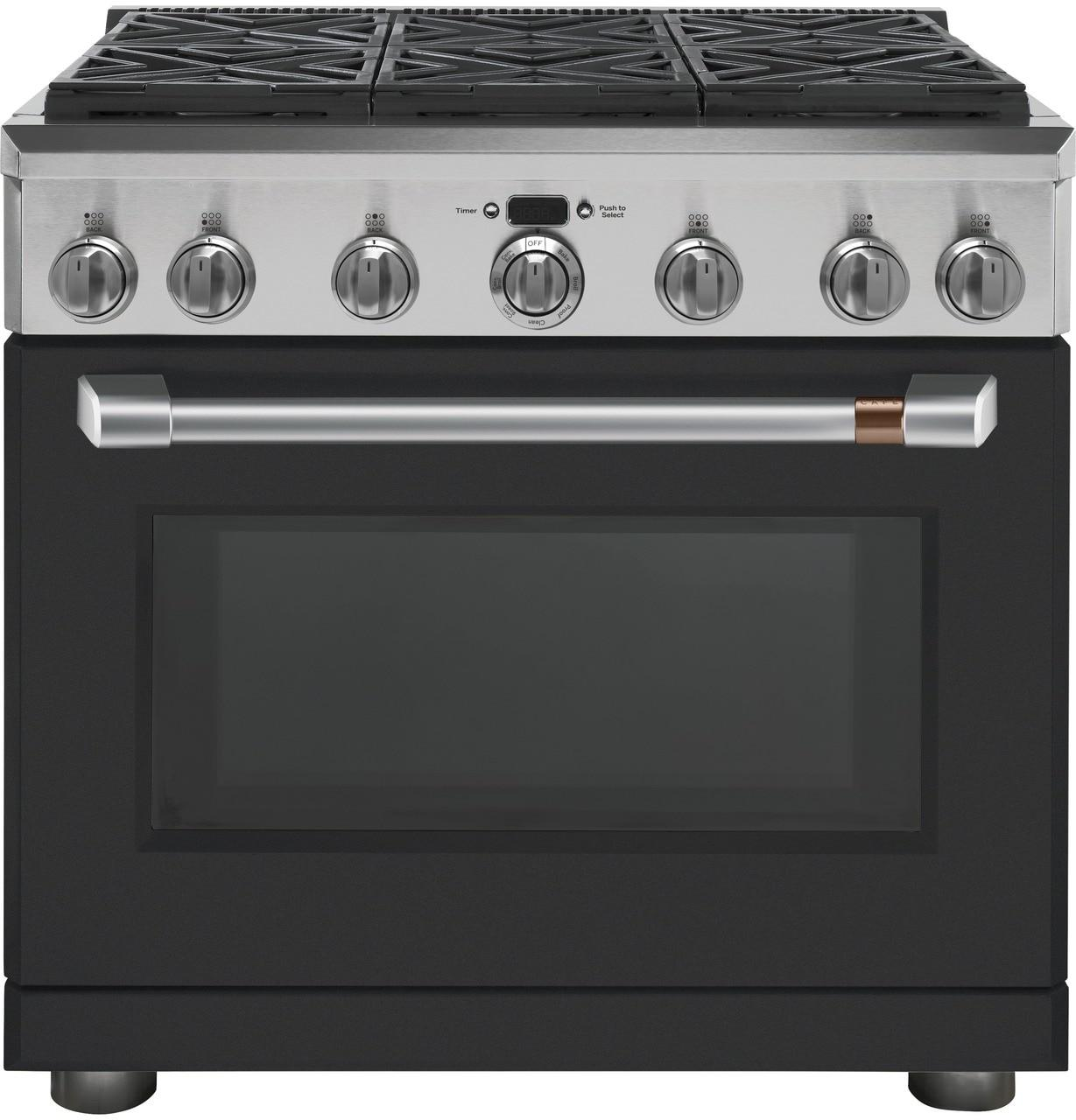 """Cafe AppliancesCafé™ 36"""" Dual-Fuel Professional Range With 6 Burners (Natural Gas)"""