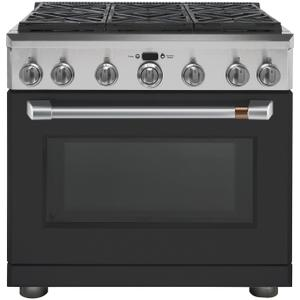 "Cafe Appliances36"" Dual-Fuel Professional Range with 6 Burners (Natural Gas)"