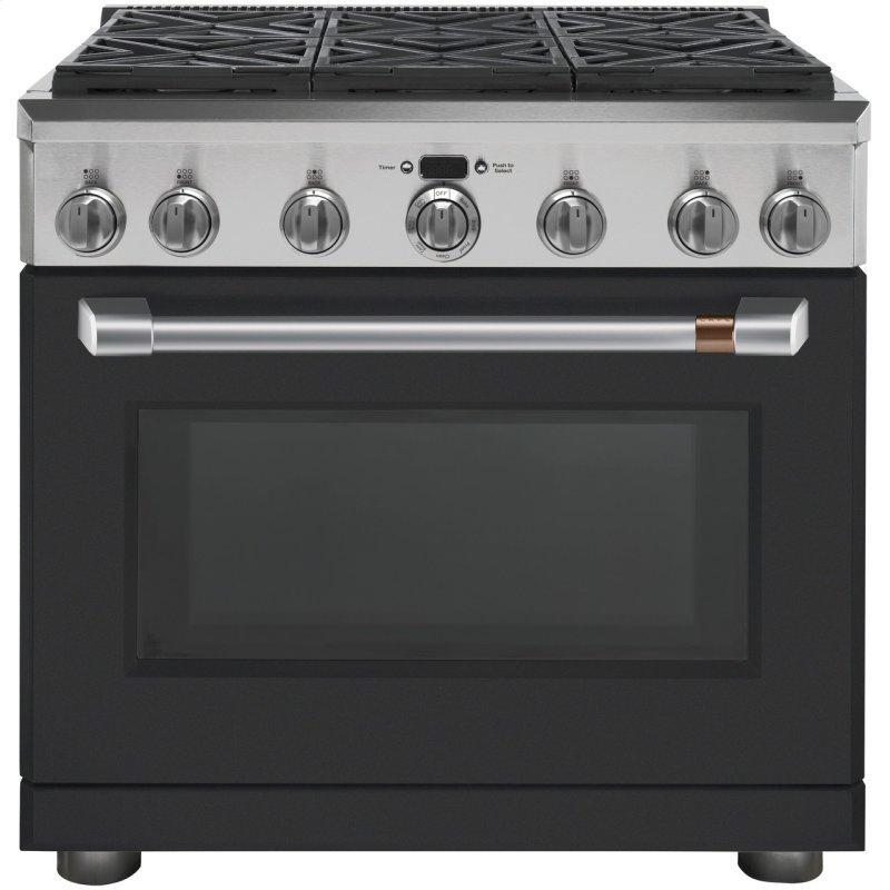 "Café™ 36"" Dual-Fuel Professional Range with 6 Burners (Natural Gas)"