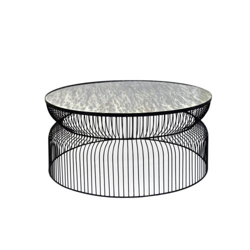 Crestview Collections - Montreal Round Metal Wire Cocktail Table