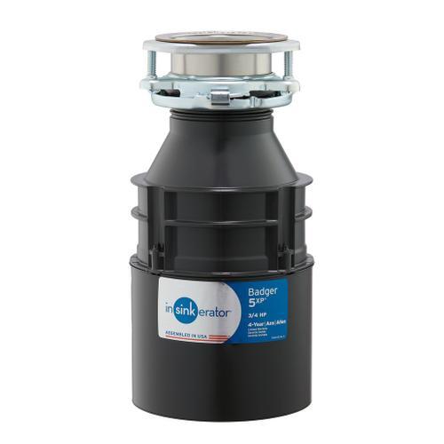 Badger 5XP Garbage Disposal, 3/4 HP