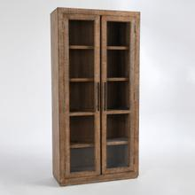 See Details - Alida Tall Cabinet Antique Brown