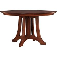 52 Diameter Two Leaves, Oak Highlands Round Dining Table