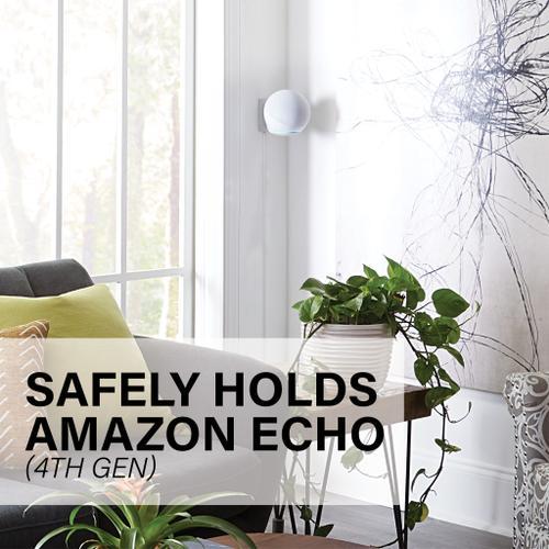 Sanus - White Amazon Echo (4th Gen) Tilt & Swivel Mount